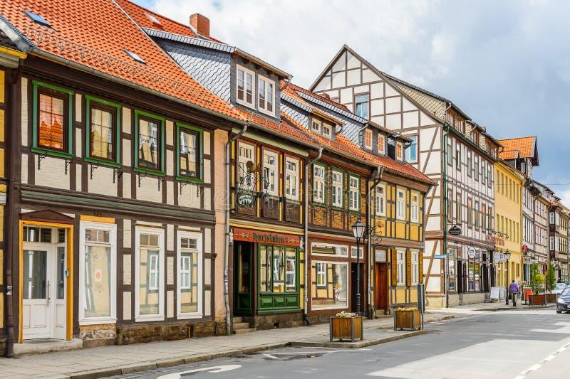 Architecture dans Wernigerode, Allemagne photo stock