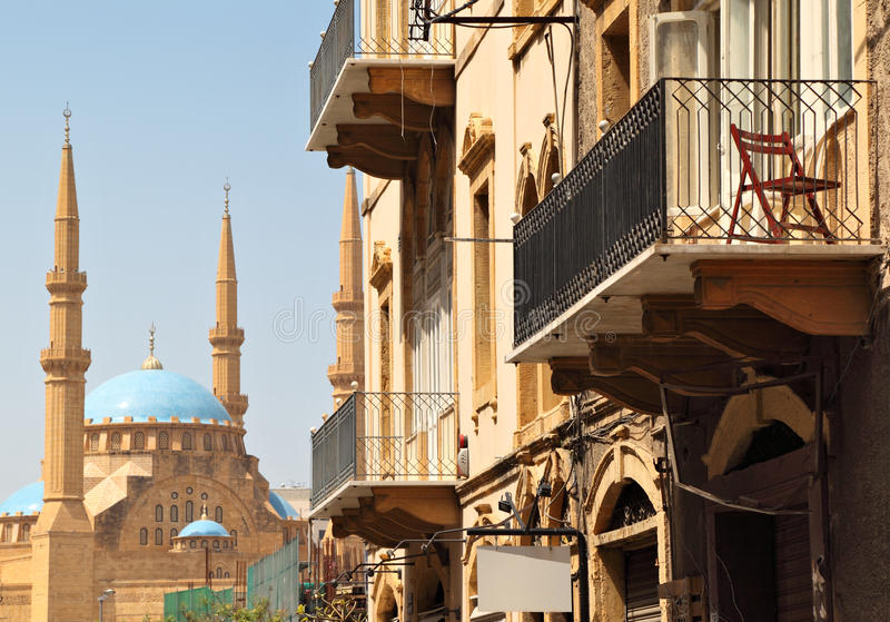 Architecture de Beyrouth image stock