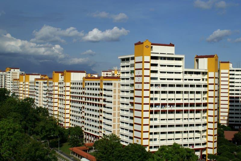Architecture de boîtier de Singapour photographie stock libre de droits
