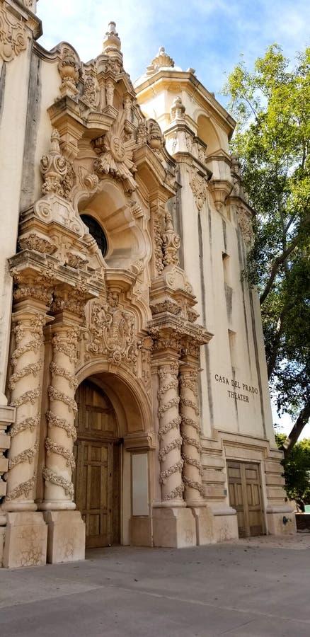 Architecture de Casa del Prado Historic en parc San Diego California de Balboa image libre de droits