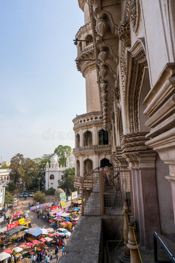 Architecture de Charminar Hyderabad photo stock