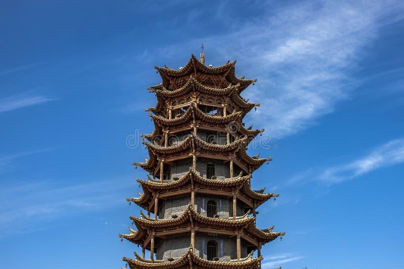 Architecture de chinois traditionnel de pagoda des ventres SI de la MU photo stock