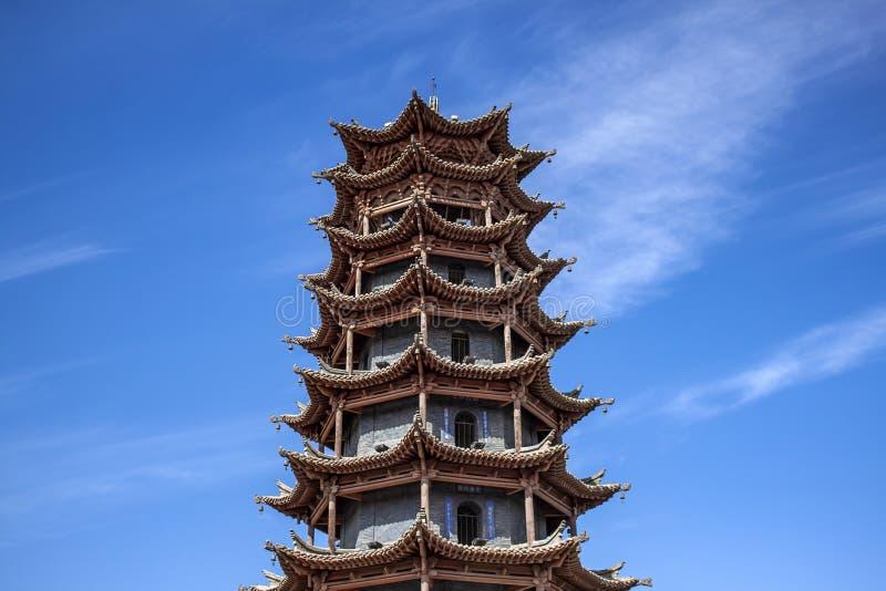 Architecture de chinois traditionnel de pagoda des ventres SI de la MU photos stock