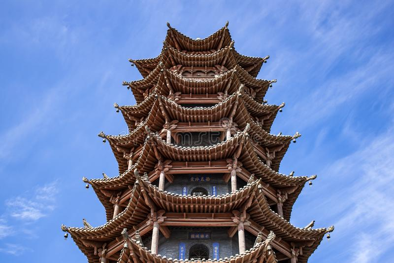 Architecture de chinois traditionnel de pagoda des ventres SI de la MU photographie stock libre de droits