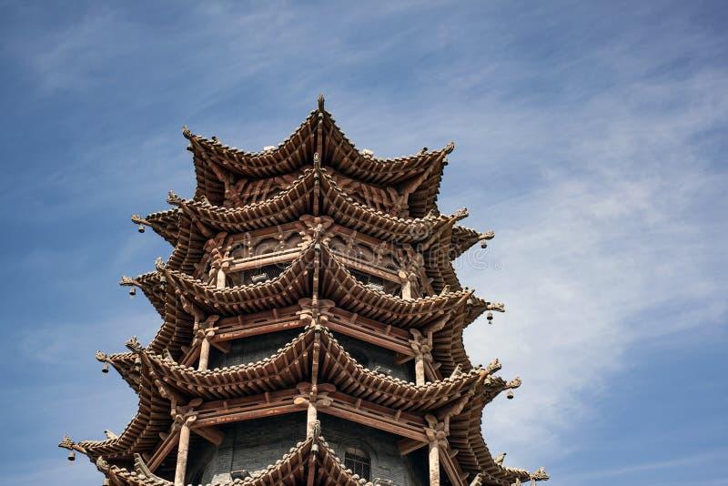 Architecture de chinois traditionnel de pagoda des ventres SI de la MU image stock