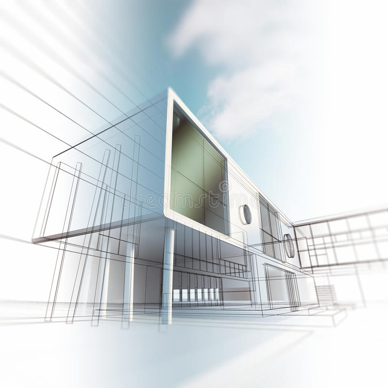 Architecture de concept illustration stock