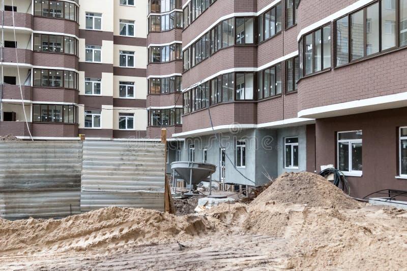 Architecture de construction de production de chantier de construction image libre de droits