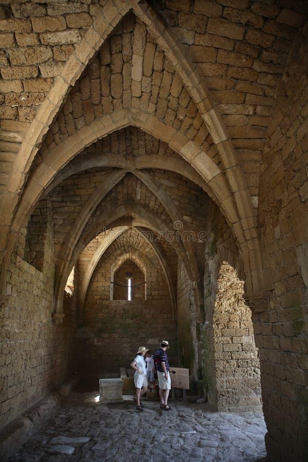 Architecture de croisé à Césarée, Israël image libre de droits
