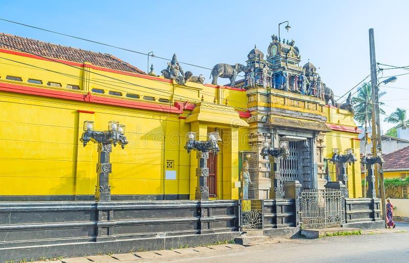 Architecture de Dravidian dans Negombo image libre de droits