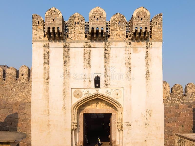 Architecture de fort de Golkonda, Hyderabad, Inde photos libres de droits