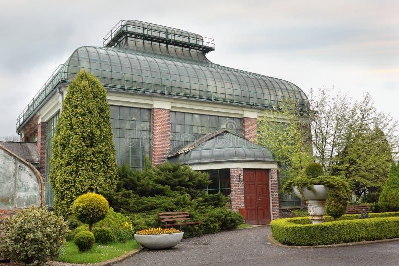 Architecture de jardin de palais de château Ksiaz photographie stock