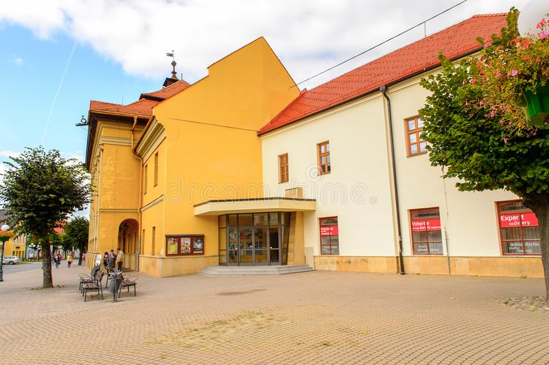 Architecture de Kezmarok, Slovaquie, photos stock