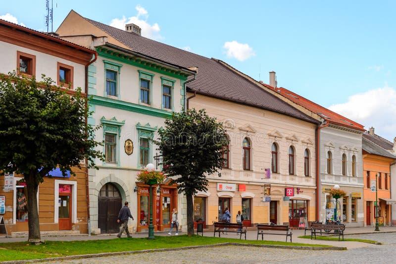Architecture de Kezmarok, Slovaquie, photographie stock libre de droits