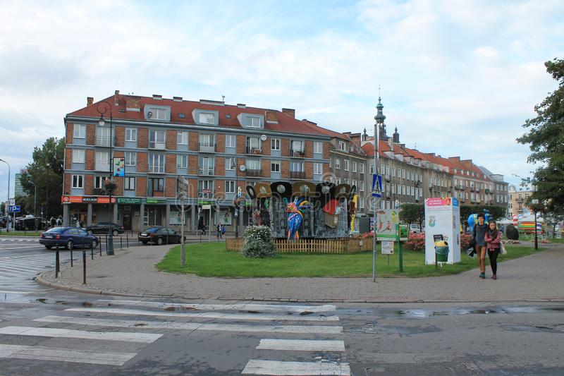 Architecture de la vieille ville Danzig Pologne photos libres de droits