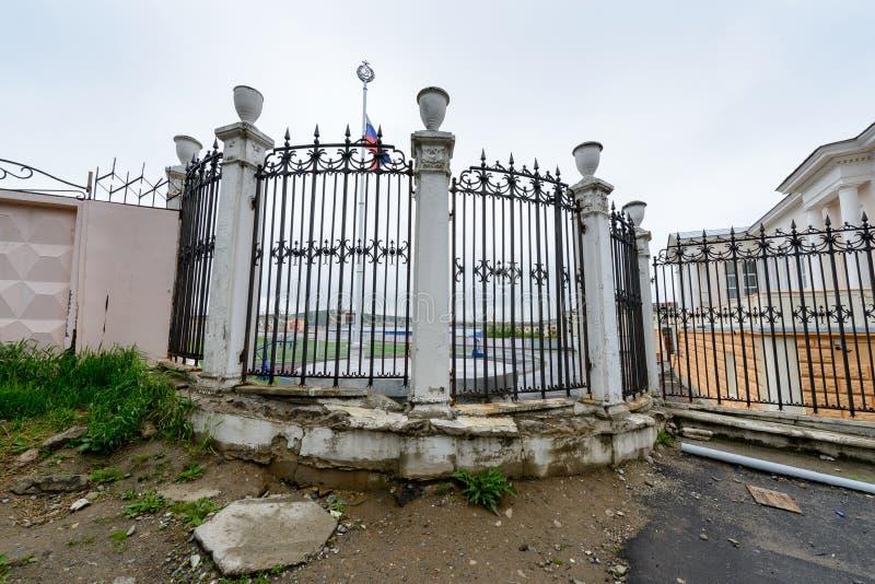 Architecture de Magada, Fédération de Russie photos libres de droits