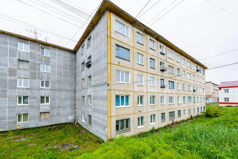Architecture de Magada, Fédération de Russie photos stock