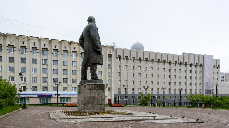 Architecture de Magada, Fédération de Russie photographie stock libre de droits