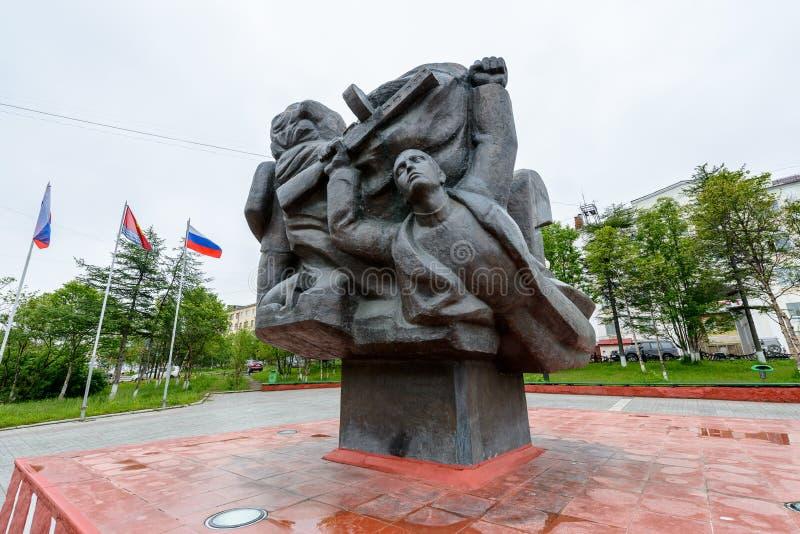 Architecture de Magada, Fédération de Russie images libres de droits