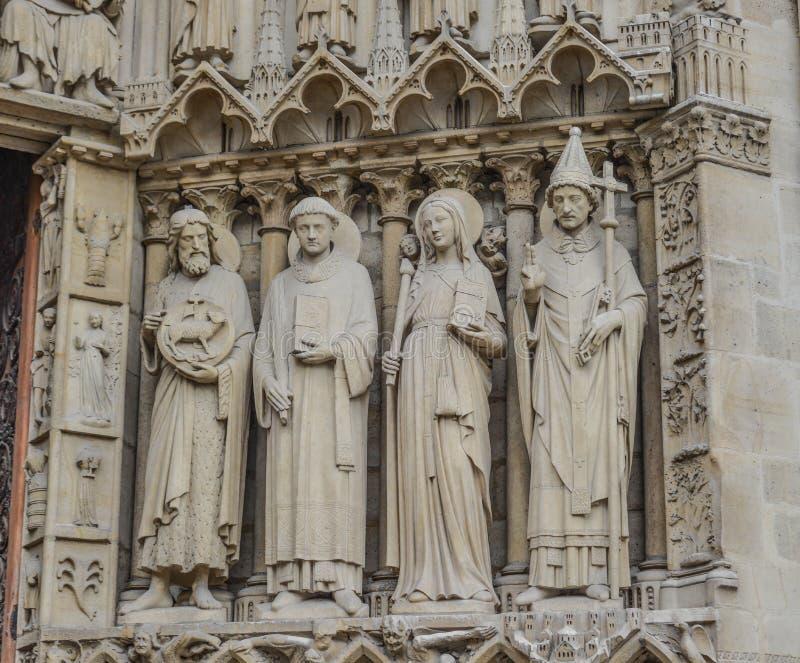 Architecture de Notre-Dame de Paris image libre de droits