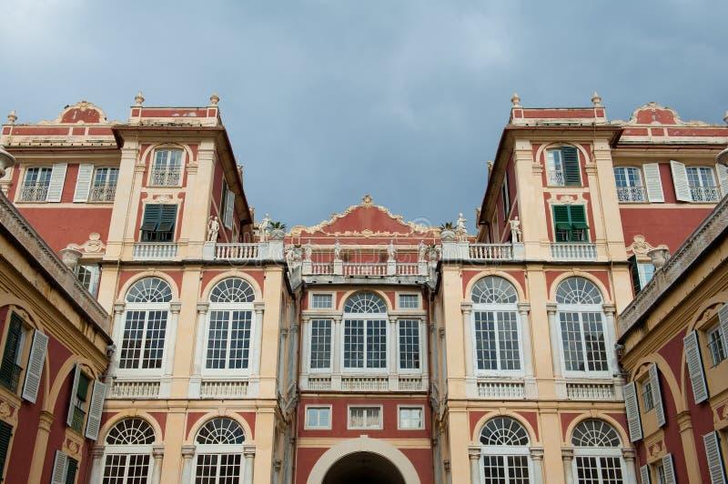 Architecture de Palazzo à Gênes photographie stock libre de droits