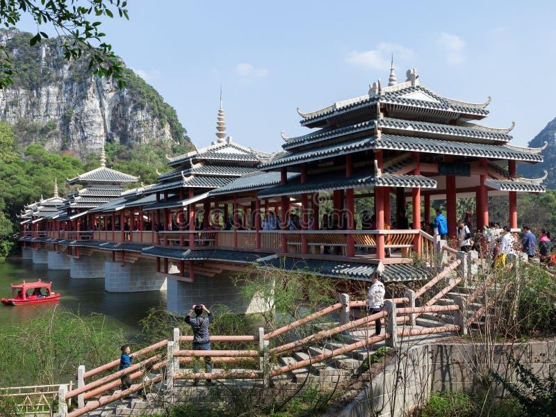 Architecture de pont de la nationalité de Dong de la Chine photographie stock