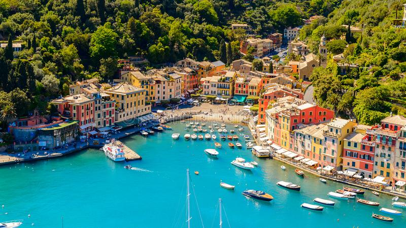 Architecture de Portofino, Italie photo stock