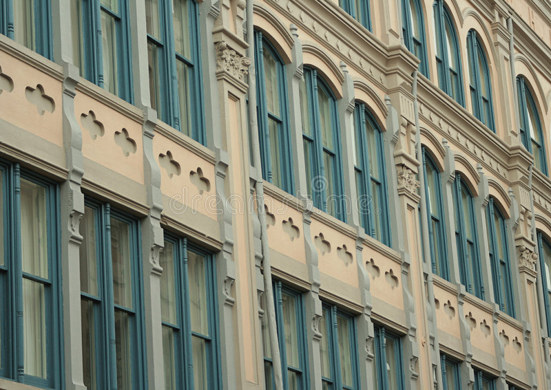 Architecture de quartier français image libre de droits