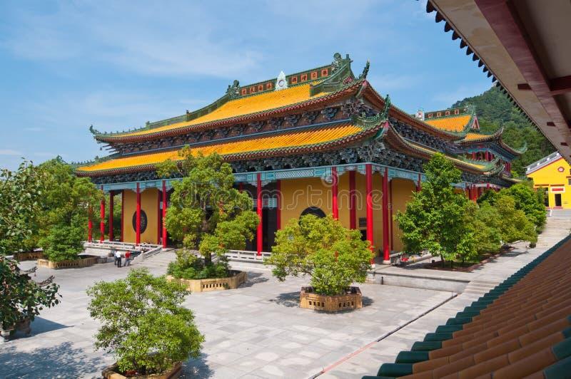 Architecture de temple de la Chine images libres de droits