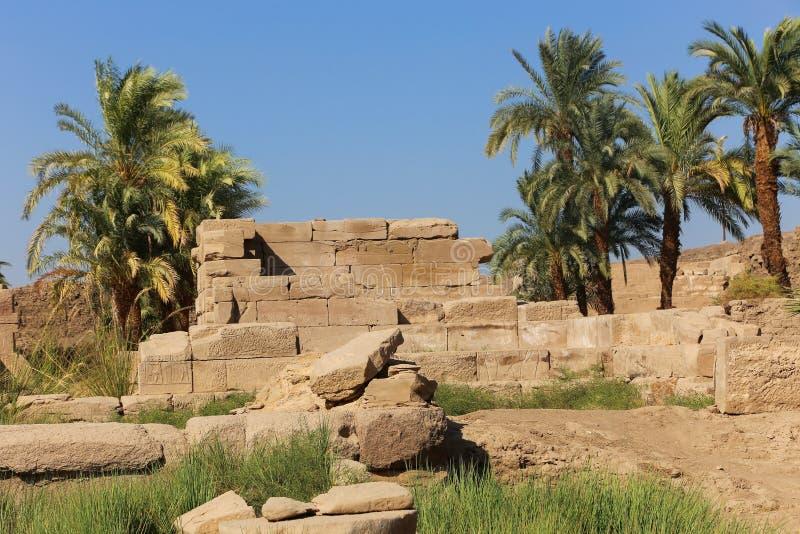 Architecture de temple de Karnak - Egypte photographie stock