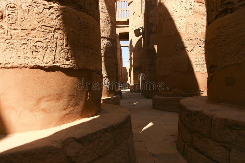 Architecture de temple de Karnak - Egypte images stock