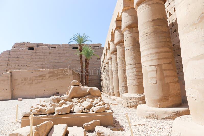 Architecture de temple de Karnak - Egypte photo stock