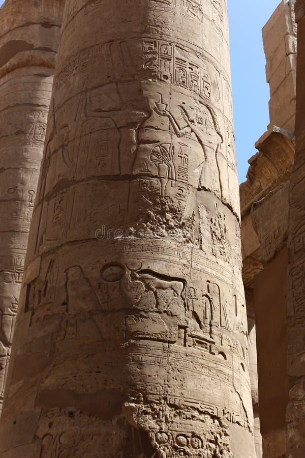 Architecture de temple de Karnak - Egypte photos stock
