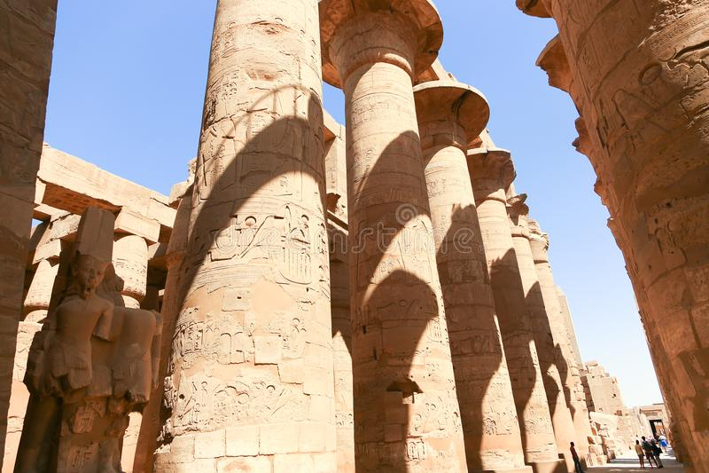 Architecture de temple de Karnak - Egypte image stock
