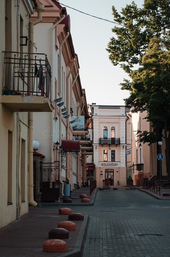 Architecture de ville, vieux bâtiments, vues photographie stock
