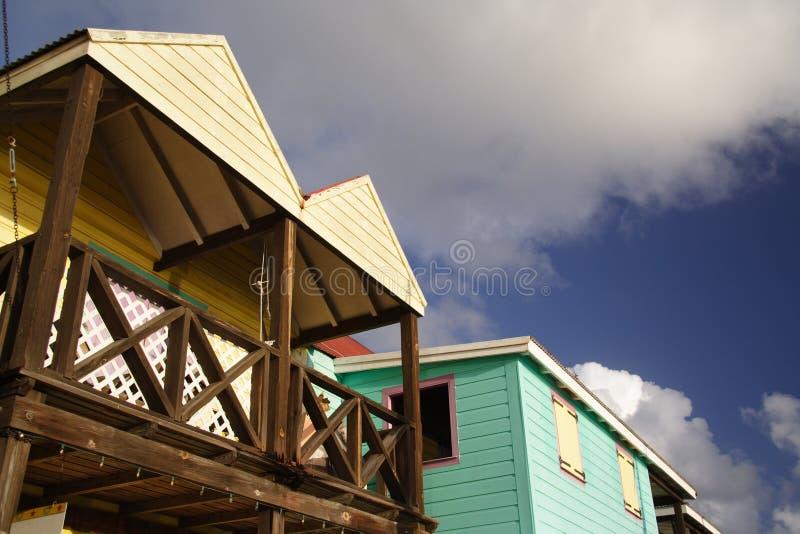 Architecture des Caraïbes photographie stock