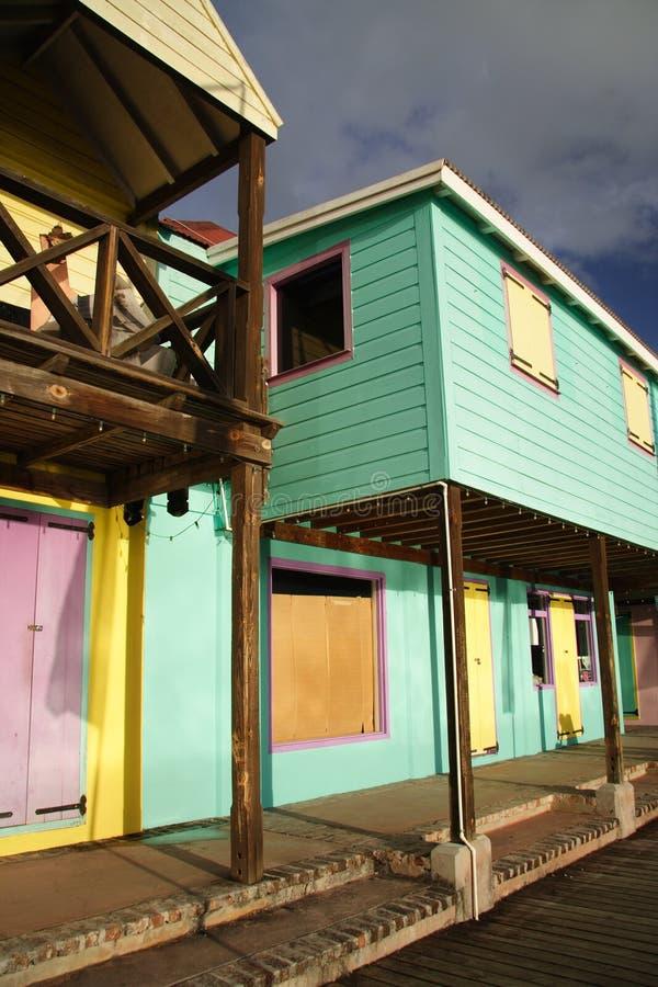 Architecture des Caraïbes photo stock