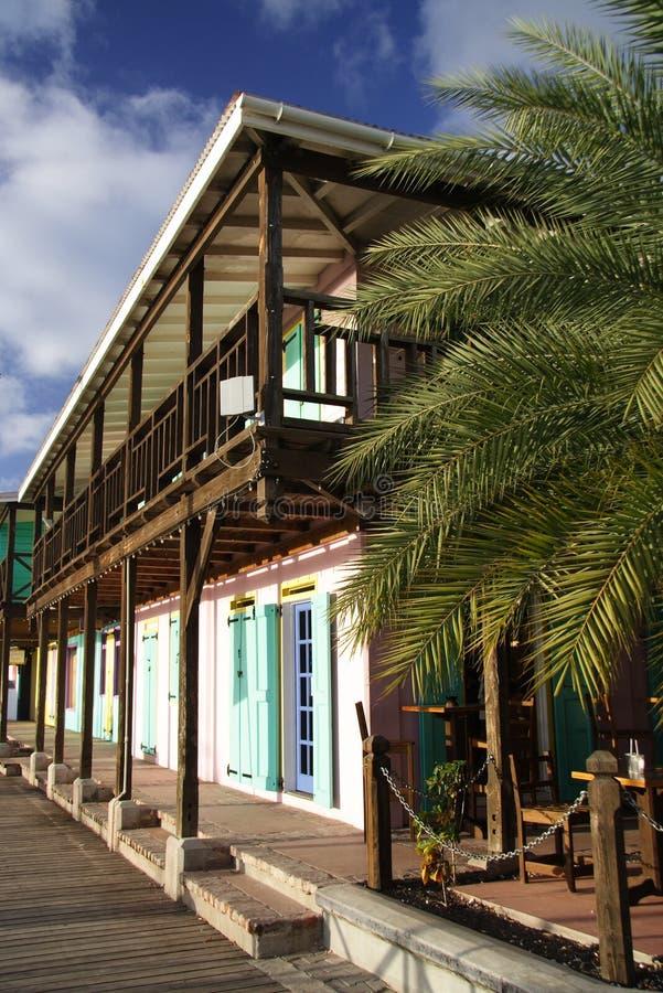Architecture des Caraïbes images libres de droits