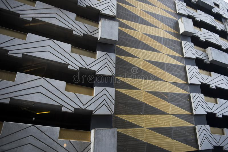 Architecture detail of building in Australia stock image