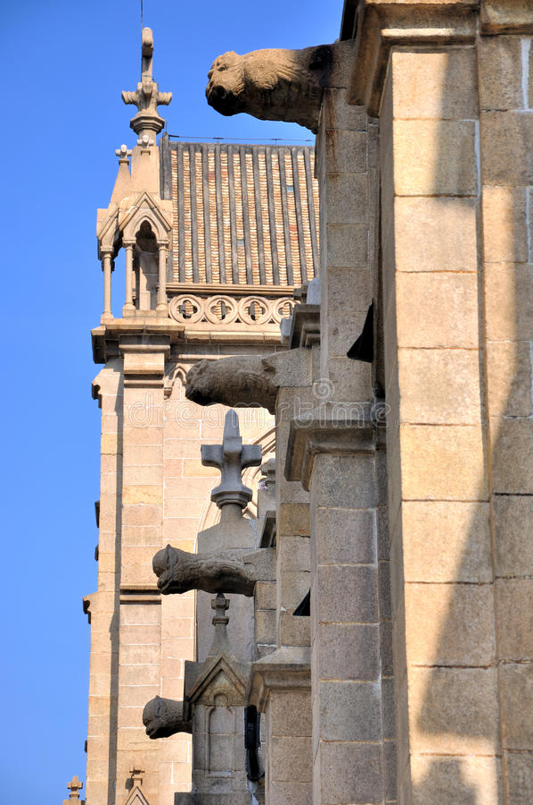 Architecture detail of Catholic church