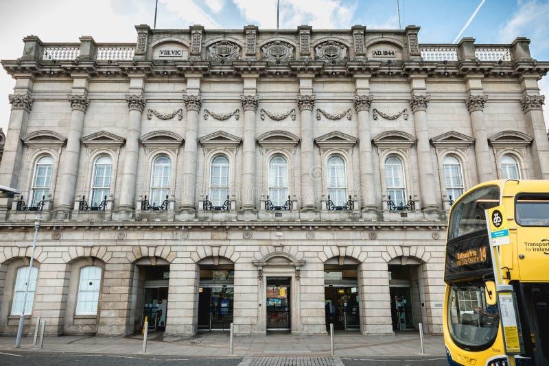 Architecture detail of Heuston train station in Dublin, Ireland stock photos