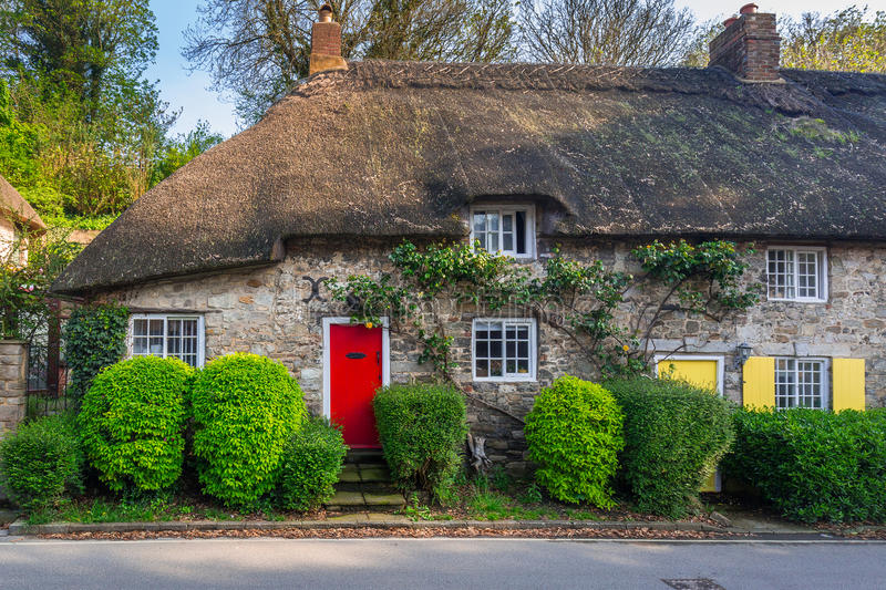 Architecture Detail Of Traditional English Cottage Houses UK