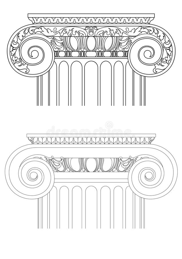 Download Architecture Detail , Vector Classic Column Stock Vector - Illustration: 13374701