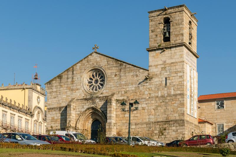 Santa Maria Maior`s Chrurch in Barcelos royalty free stock image