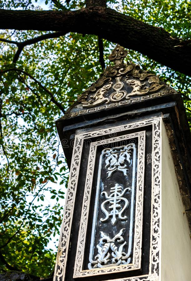 Architecture details of Chinese historic building detail view stock images