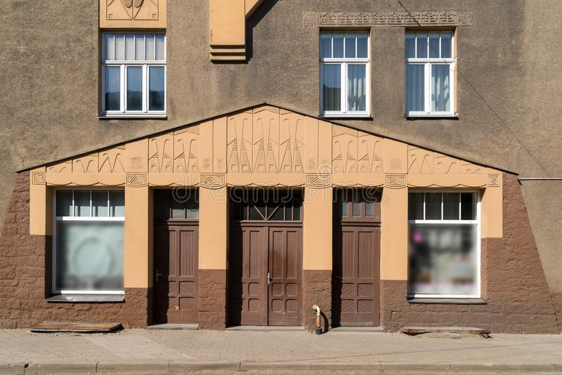 Architecture details. Fragment of Art architecture style Riga city royalty free stock image