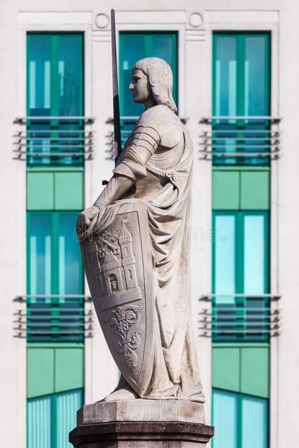 Architecture details. Fragment of Art architecture style Riga city stock photo