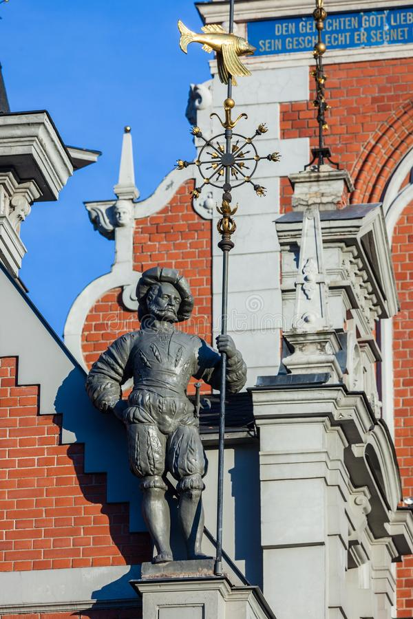 Architecture details. Fragment of Art architecture style Riga city royalty free stock photos