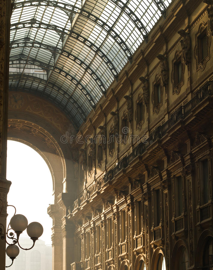 Free Architecture Details Of Vittorio Emanuele Gallery Royalty Free Stock Photography - 36078687