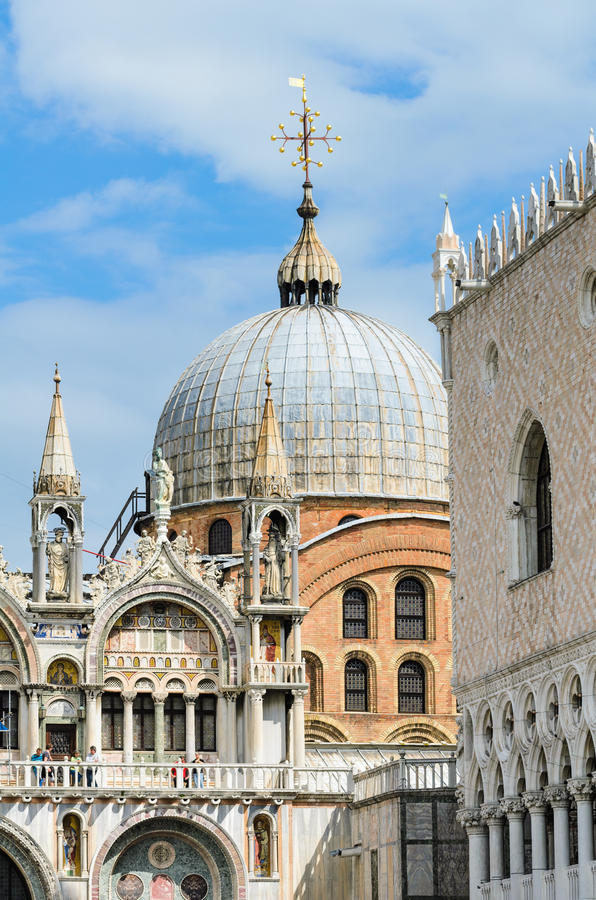 Architecture details at the Piazza San Marco in Ve stock photography