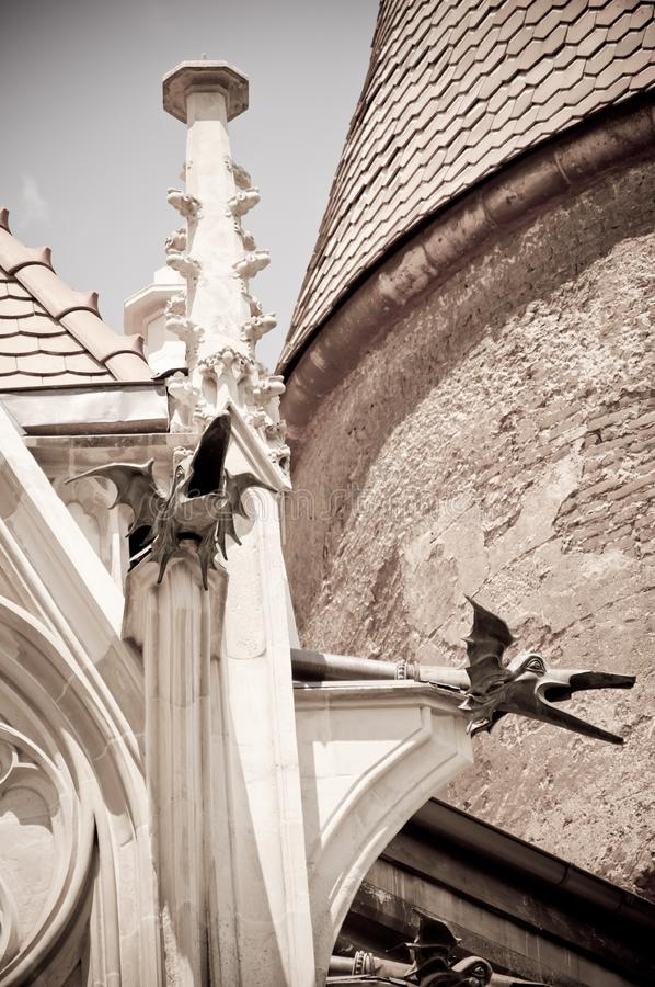 Architecture details at a Romanian medieval castle royalty free stock photos